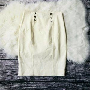 White House Black Market White Pencil Skirt 4